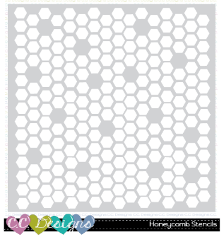 "C.C. Designs - 6"" x 6"" Honeycomb stencil"