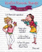 Kraftin' Kimmie - Let them eat cupcakes! clear stamp set