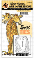 Art Impressions - Giraffe twist ties - stamp and die set