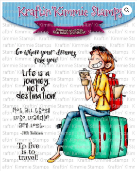 Life is a journey clear stamp set