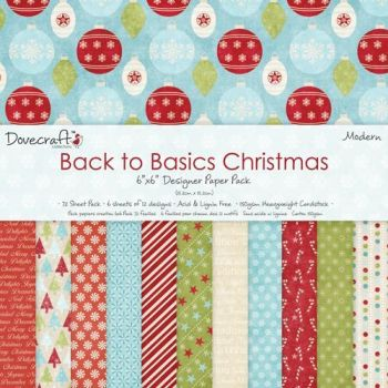 Dovecraft Back to Basics - Modern Christmas 8x8 Paper Pad