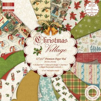 First Edition 6x6 Paper Pad Christmas Village