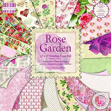 First Edition 6x6 FSC Paper Pad Rose Garden