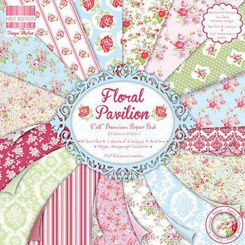 First Edition 6x6 FSC Paper Pad Floral Pavillion