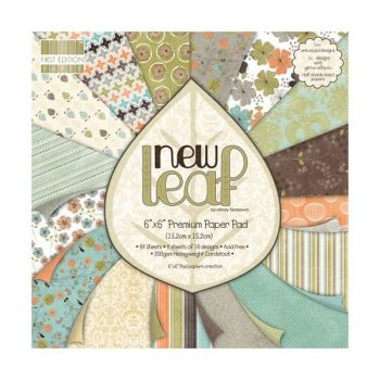 First Edition 6x6 FSC Paper Pad New Leaf