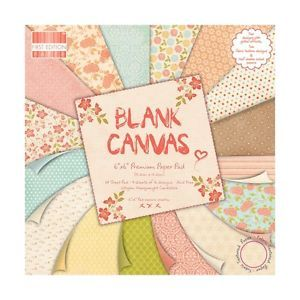 First Edition 6x6 FSC Paper Pad Blank canvas