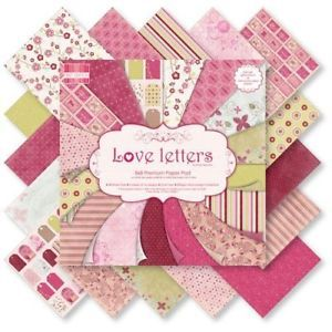 First Edition 6x6 FSC Paper Pad Love letters