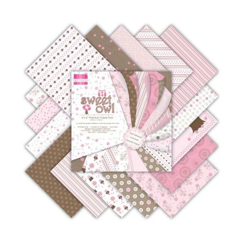 First Edition 6x6 FSC Paper Pad Sweet Owl