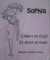 Sophia - Kraftin' Kimmie stamp