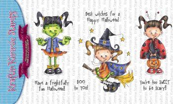 Kraftin' Kimmie - Hallowe'en Lulu clear stamp set
