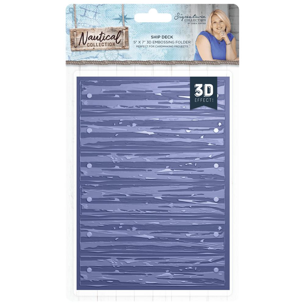 **NEW** Sara Signature Collection Nautical - 3D Embossing Folder - Ship Dec