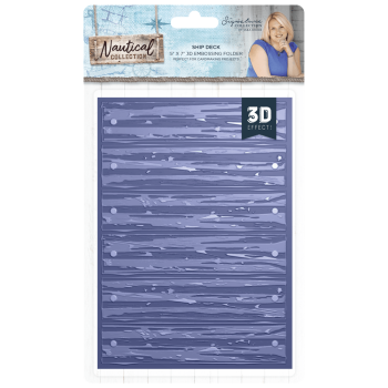 **NEW** Sara Signature Collection Nautical - 3D Embossing Folder - Ship Deck