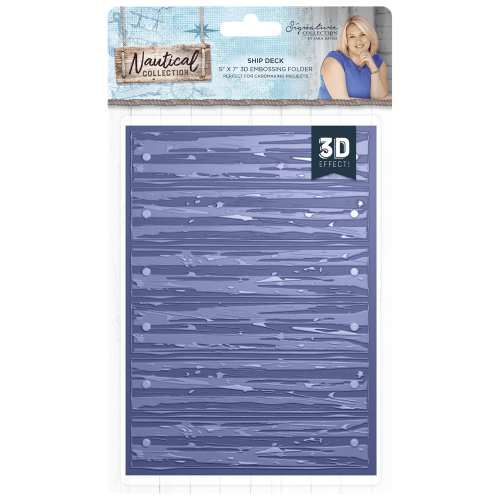**NEW** Sara Signature Collection Nautical - 3D Embossing Folder - Ship Dec