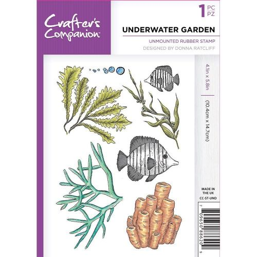 **NEW**Crafter's Companion Under The Sea A6 Rubber Stamp - Underwater Garde