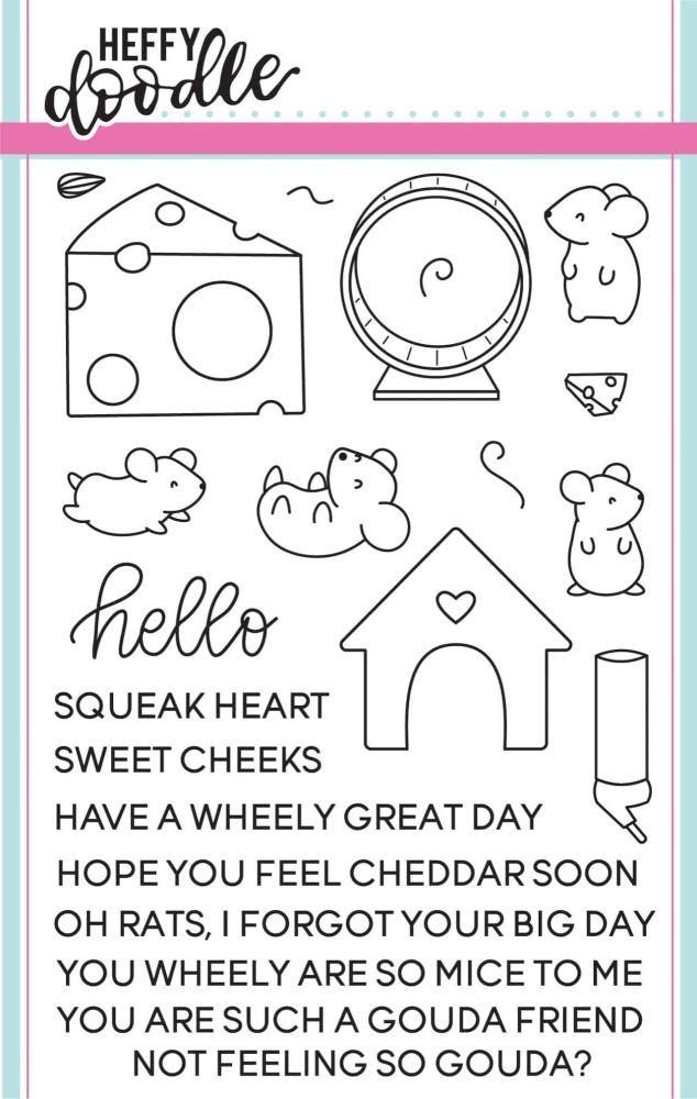 Heffy Doodle - Squeak heart clear stamps
