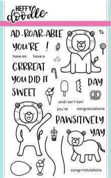 Heffy Doodle - Ad-roar-able clear stamps