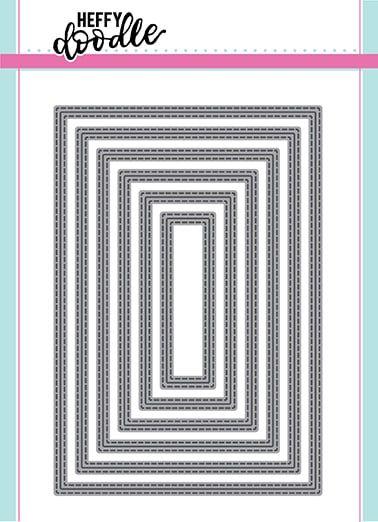 Heffy Doodle Metric Stitched Rectangles dies (UK/EU size)