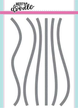 Heffy Doodle Stitched Slopey Joes border dies