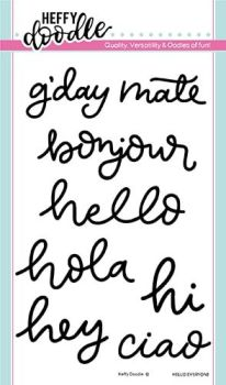 Heffy Doodle - Hello everyone clear stamps