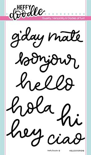 **NEW**Heffy Doodle - Hello everyone clear stamps