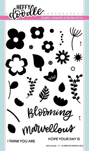 **NEW**Heffy Doodle - Blooming Marvellous clear stamps