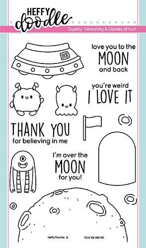 **NEW**Heffy Doodle - You're Weird clear stamps