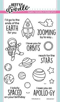 Heffy Doodle - Spaced out clear stamps