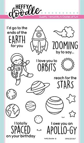 **NEW**Heffy Doodle - Spaced out clear stamps