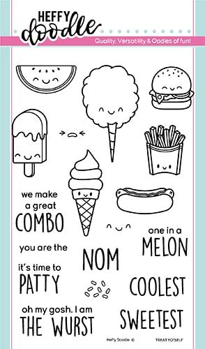 **NEW**Heffy Doodle - Treat Yo'Self clear stamps