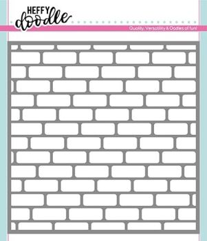 **NEW**Heffy Doodle Brick By Brick stencil