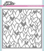 Heffy Doodle - Scribble On My Heart stencil