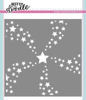 Heffy Doodle - Star Swirl stencil