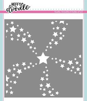 **NEW**Heffy Doodle Star Swirl stencil