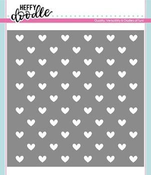 **NEW**Heffy Doodle Steady Heart Stencil