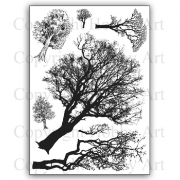 Trees A5 stamp set
