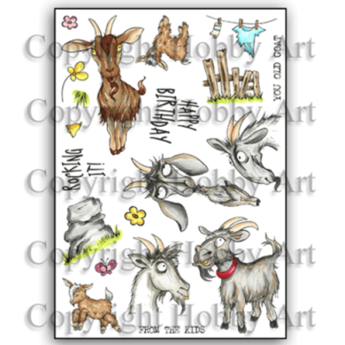 Get Your Goat A5 stamp set