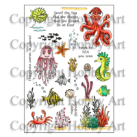Under The Sea A5 stamp set