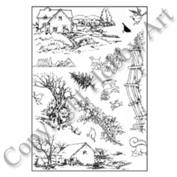 Country Ways A5 stamp set