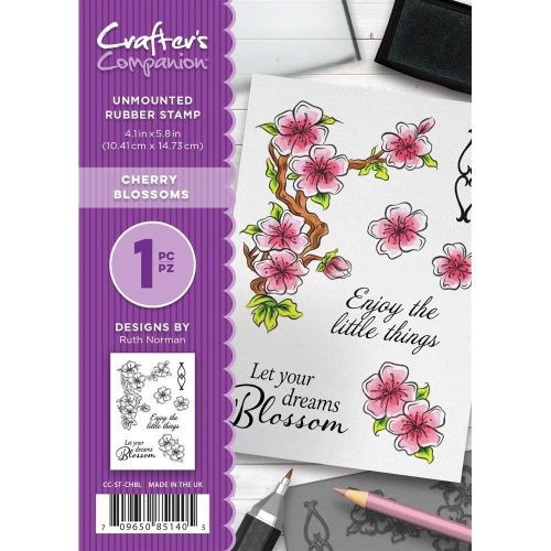 Crafter's Companion  A6 Rubber Stamp - Cherry Blossoms