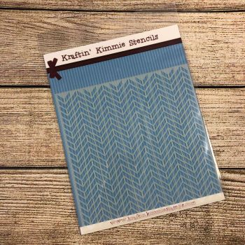 **NEW** Wonkey Chevron Stencil!