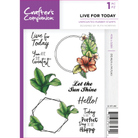 Crafter's Companion  A6 Rubber Stamp - Live For Today
