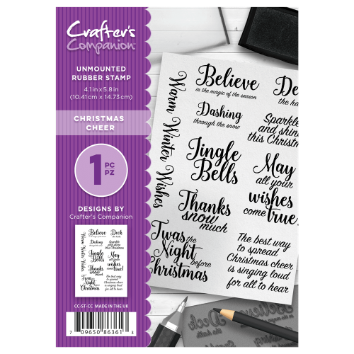 Crafter's Companion  A6 Rubber Stamp - Christmas Cheer