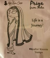 Kraftin' Kimmie - Priya - From India rubber stamp