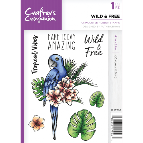 Crafter's Companion  A6 Rubber Stamp - Wild and free