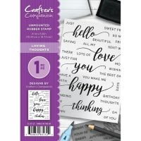 Crafter's Companion  A6 Rubber Stamp - Loving Thoughts