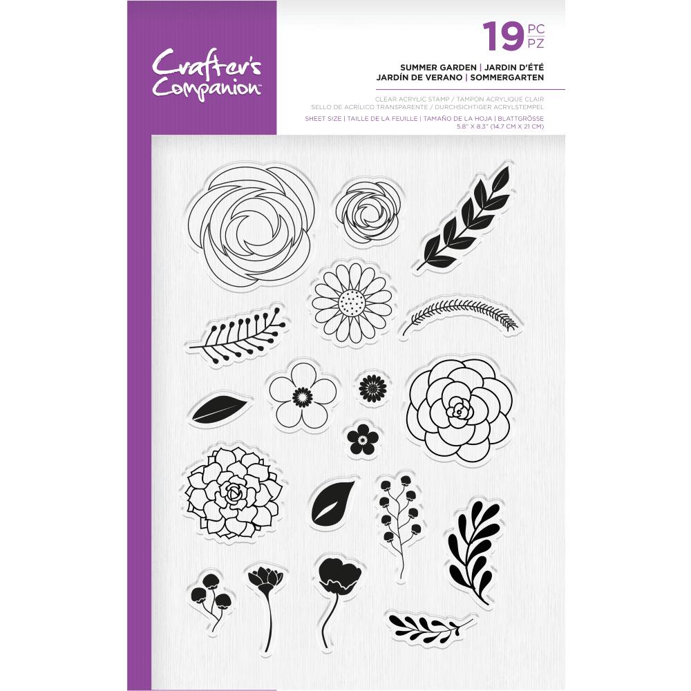 **NEW**Crafter's Companion Photopolymer Stamp - Summer Garden