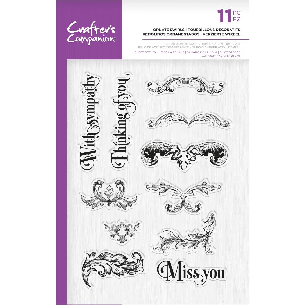 Crafter's Companion Photopolymer Stamp - Ornate Swirls