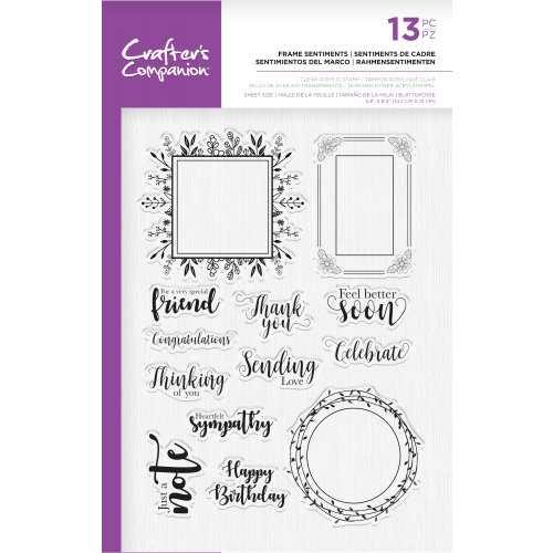Crafter's Companion Photopolymer Stamp - Frame sentiments