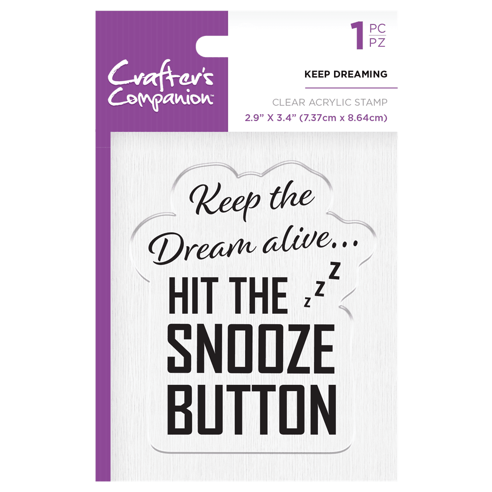 Crafter's Companion Clear Acrylic Stamp - Keep Dreaming