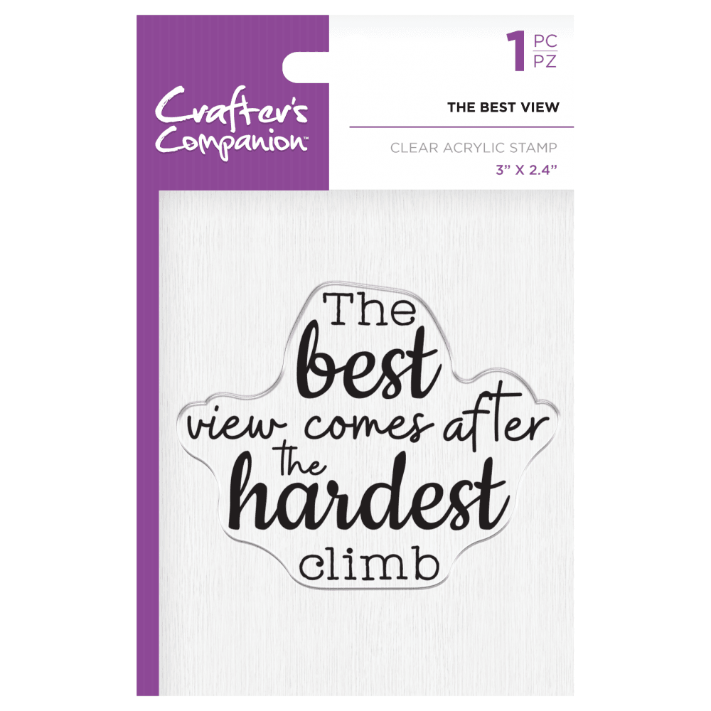 Crafter's Companion Clear Acrylic Stamp - The Best View